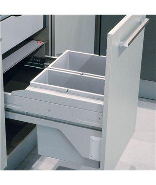 Мусорное ведро Hailo Cargo Soft 3610581, 34 л, на выдвижной фасад 500 мм
