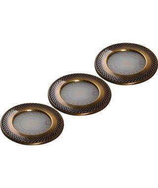 Комплект светодиодных светильников Forma E Funzione SUN Art 13060010, античная латунь, трансформатор