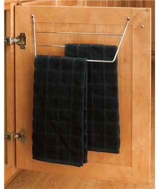 Держатель для полотенец Rev-a-shelf 10270001, фасад от 400 мм, материал сталь, цвет хром