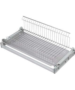 Сушка для посуды Kalibra 580-16, 800 мм, одноуровневая, 1 поддон, 16 дсп