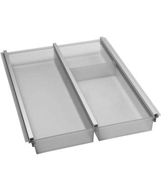 Лоток для столовых приборов Ninkaplast Cuisio Pro 12240021, цвет графит, пластик/алюминий