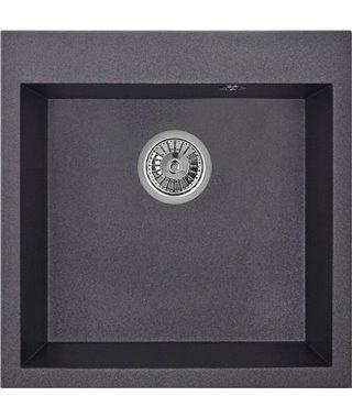 Кухонная мойка Granula GR-5102, черный, 505х510 мм