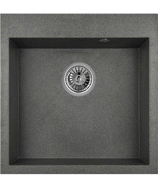 Кухонная мойка Granula GR-5102, графит, 505х510 мм