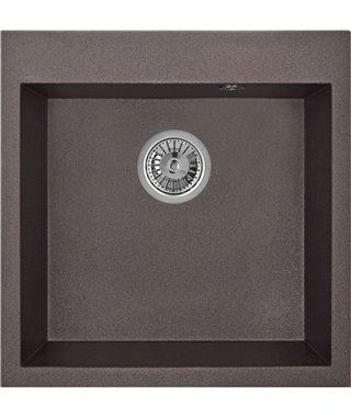 Кухонная мойка Granula GR-5102, эспрессо, 505х510 мм