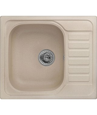 Кухонная мойка Granula GR-5801, песок, 575x495 мм