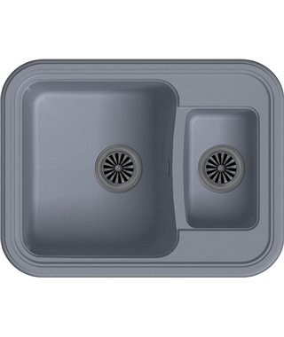 Кухонная мойка Ewigstein Antik 60К, серый металлик