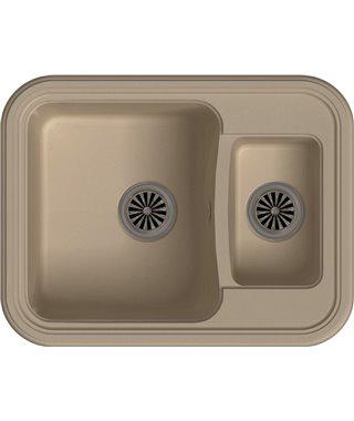 Кухонная мойка Ewigstein Antik 60К, крем