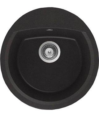 Кухонная мойка Schock Eclipse 45, оникс, Cristalite, корзинчатый клапан