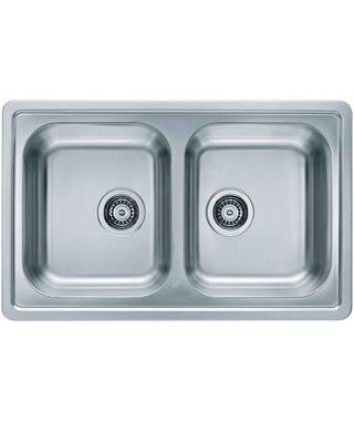 Кухонная мойка Alveus Elegant 40, decor, сифон, 1009385