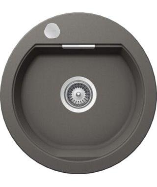 Кухонная мойка Schock Calypso 45, серебристый камень, Cristadur, 485х500, 701016
