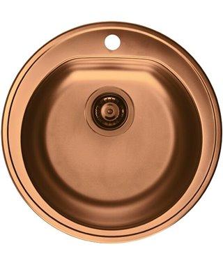 Кухонная мойка Alveus Form 30, сифон, D510, медь, 1070807