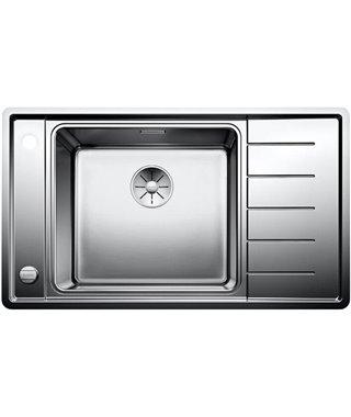Кухонная мойка Blanco Andano XL 6S-IF Compact InFino, нерж. сталь с зеркальной полировкой, чаша слева