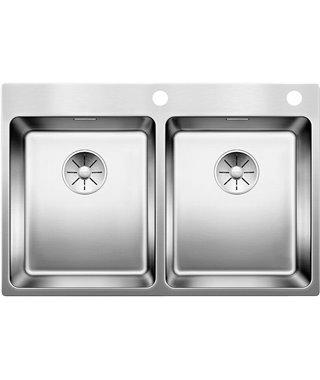 Кухонная мойка Blanco Andano 340/340-IF-A InFino, зеркальная полировка, 522997