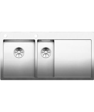 Кухонная мойка Blanco Claron 6S-IF/А, зеркальная полировка, чаша слева