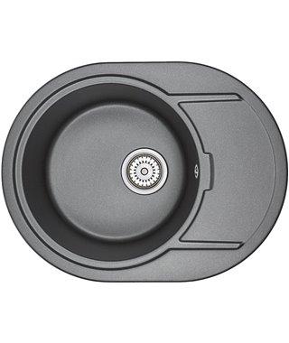 Кухонная мойка Granula GR-6502, шварц