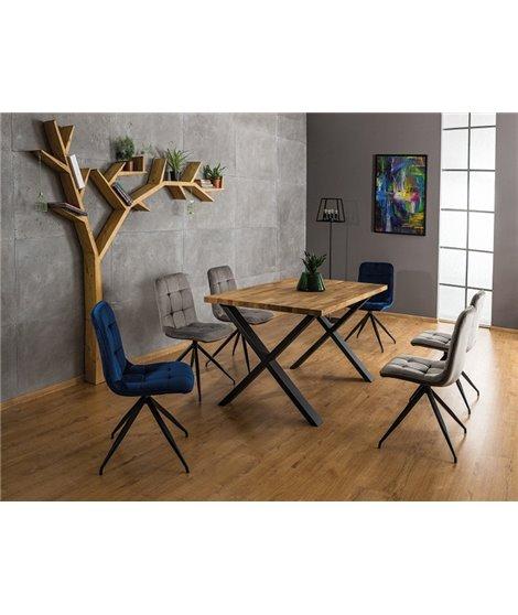 Стол обеденный Signal XAVIERO II 150 (дуб натуральный/черный)
