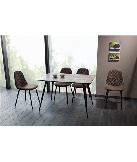 Стол обеденный Signal REMUS 120 (орех/черный)
