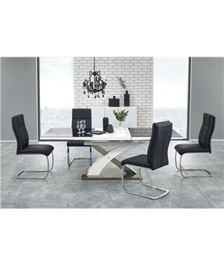 Стол обеденный Halmar SANDOR-2, раскладной (черно-белый)