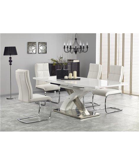 Стол обеденный Halmar SANDOR-2, раскладной (белый)