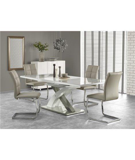 Стол обеденный Halmar SANDOR-2, раскладной (серо-белый)