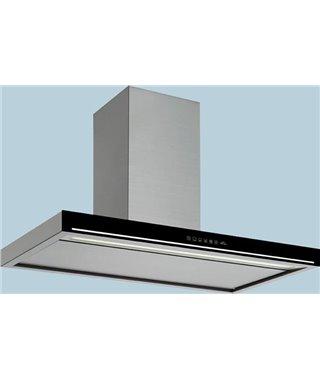 Вытяжка Falmec BLADE 90 IX (800) STEC, Нержавеющая сталь, черное стекло