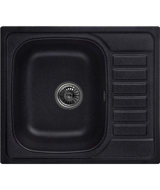 Кухонная мойка Granula GR-5801, черный, 575x495 мм
