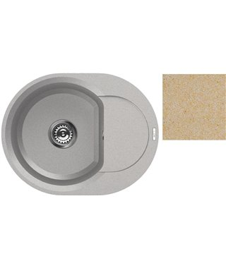 Кухонная мойка Elleci Easy Round 600, 600*471, granitek (69) LGY60069