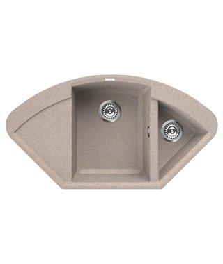 Кухонная мойка Elleci Easy Corner, 1057*575, granitek (51) LGYCOR51
