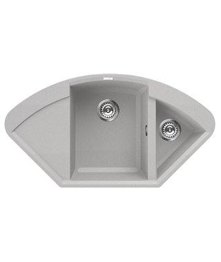 Кухонная мойка Elleci Easy Corner, 1057*575, metaltek (79/67) LMYCOR79