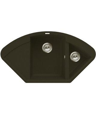 Кухонная мойка Elleci Easy Corner, 1057x575, metaltek (78) LMYCOR78