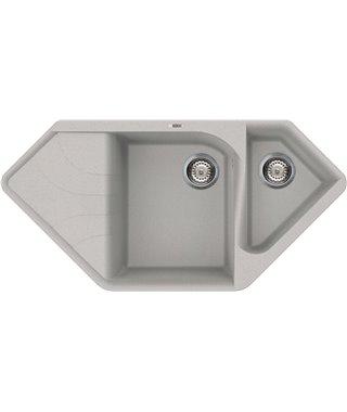 Кухонная мойка Elleci Ego Corner, 1000*500, metaltek (79/67) LMECOR79