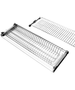Сушка для посуды Kalibra 645-18, 450 мм,1 поддон, 18 дсп, нержавеющая сталь