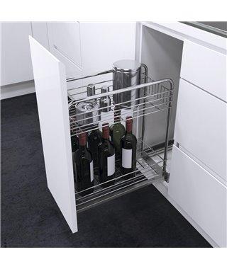 Выдвижная корзина для бутылок Vauth-Sagel 90002664, с доводчиком, ширина фасада 300 мм