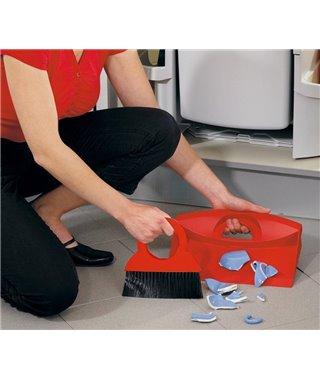 Комплект для уборки Hailo Комплект для уборки 1068569, щетка и совок, цвет красный