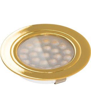 Светодиодный светильник Furnika ROUND DY 13070010, накладной/врезной, свет теплый, цвет корпуса золот