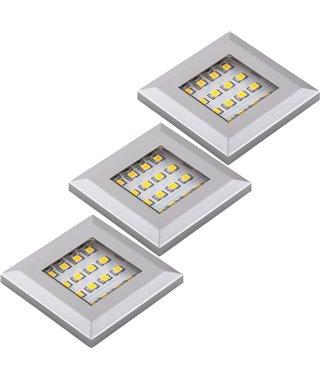 Комплект светодиодных светильников Furnika SQUERE K10.01.15.22, трансформатор, свет теплый