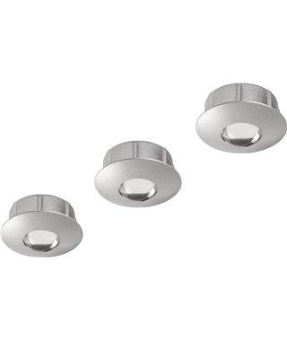 Комплект светодиодных светильников Furnika POINT 13070014, врезные, свет холодный, цвет серый, трансформатор