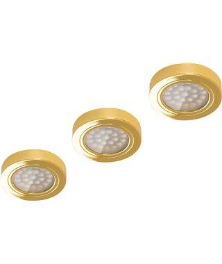 Комплект светодиодных светильников Furnika Round DY 13070011, трансформатор, свет теплый, цвет золото