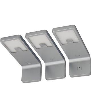 Комплект светодиодных светильников Furnika LEDA 13070007, алюминий, свет дневной, трансформатор, выключатель