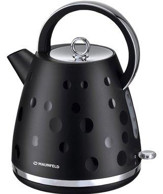 Чайник Maunfeld MFK-647BK, черный с хромированными элементами