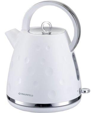 Чайник Maunfeld MFK-647WH, белый с хромированными элементами