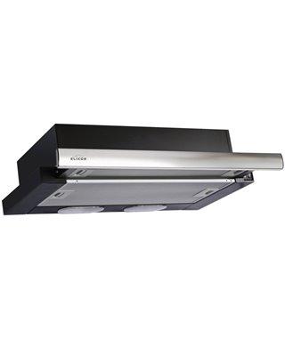 Вытяжка Elikor Интегра 60П-400-В2Л, черный/нержавеющая сталь