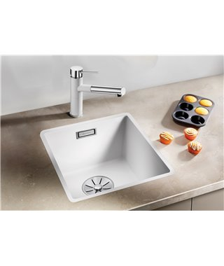 Кухонная мойка Blanco Subline 320-F алюметаллик, с отв.арм. InFino