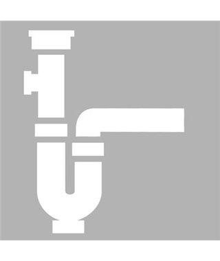 Одинарный сифон Alveus FI 114, c вертикальным переливом ECO