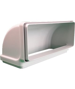 Воздуховод вертикальный угловой Faber CRV90, 220х90 мм