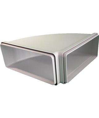 Воздуховод горизонтальный угловой Faber CRO90, 220х90 мм