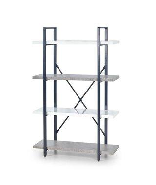 Стеллаж Halmar STONNO REG-1 (белый бетон/черный)