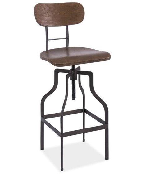 Барный стул Signal DROP (орех/графит)