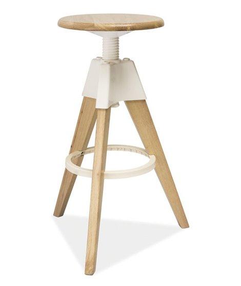 Барный стул Signal BODO (белый/беленый дуб)