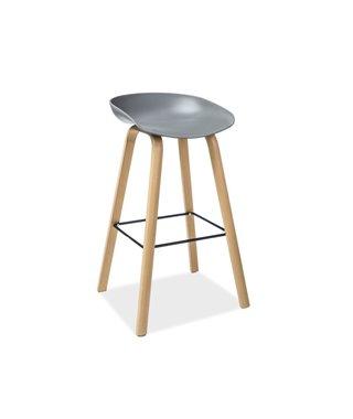 Барный стул Signal STING (серый/дуб)